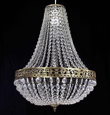 Prism Framed Mercury Glass Chandelier 4 Light Shades of