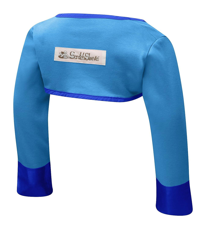 Scratch Sleeves Anti-Kratz-Ärmel für Babys und Kleinkinder mit juckender Haut, guter Sitz, Creme / Blau ScratchSleeves