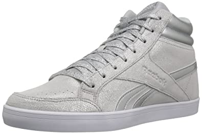 b5b3182508d7 Reebok Women s Royal Aspire 2 Walking Shoe Silver Metallic White LGH 7.5 B(
