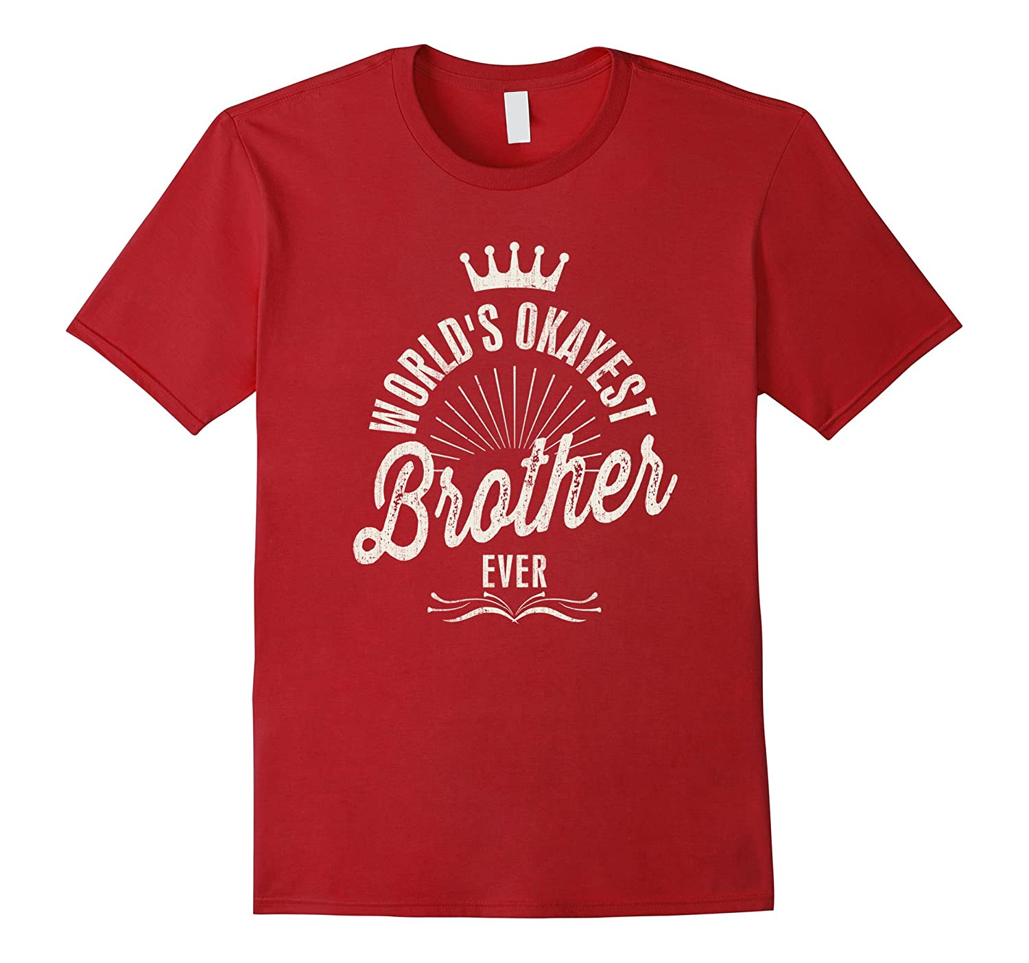 World's Okayest Brother Ever Vintage T-shirt-Art