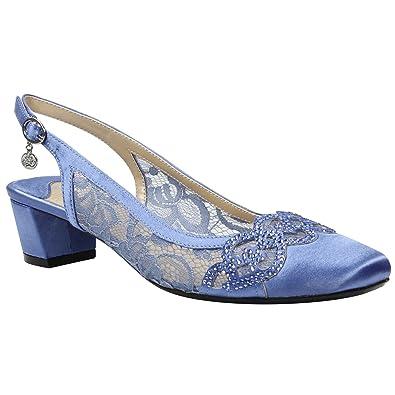 dca7820352 Amazon.com | J. Renee Women's Faleece Low Block Heel Slingback | Shoes