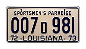 Celebrity Machines Louisiana | Shark Autopsy | 1975 JAWS Movie | Metal Stamped Vanity Prop License Plate