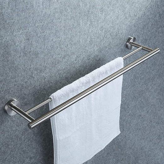 Decdeal Handtuchablage Badregal Wandregal Handtuchhalter Wand Edelstahl Ohne Bohren Geeignet f/ür Badezimmer