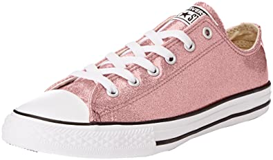6faa39258db0f Converse Little Girls' Chuck Taylor All Star Ox Glitter Casual Sneakers