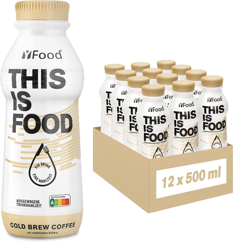 YFood Coffee | Batido Sustitutivo | Sustitutivo de comida sin lactosa ni gluten | 33g de proteínas, 26 vitaminas y minerales | 25% de las calorías ...