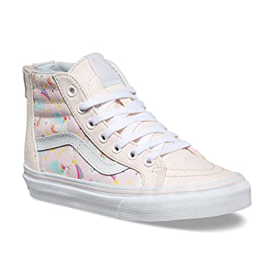 b4784ab22b77 Vans Kids SK8-Hi Zip (Glitter Pegasus) Heavenly Pink/True White VN0A3276U07