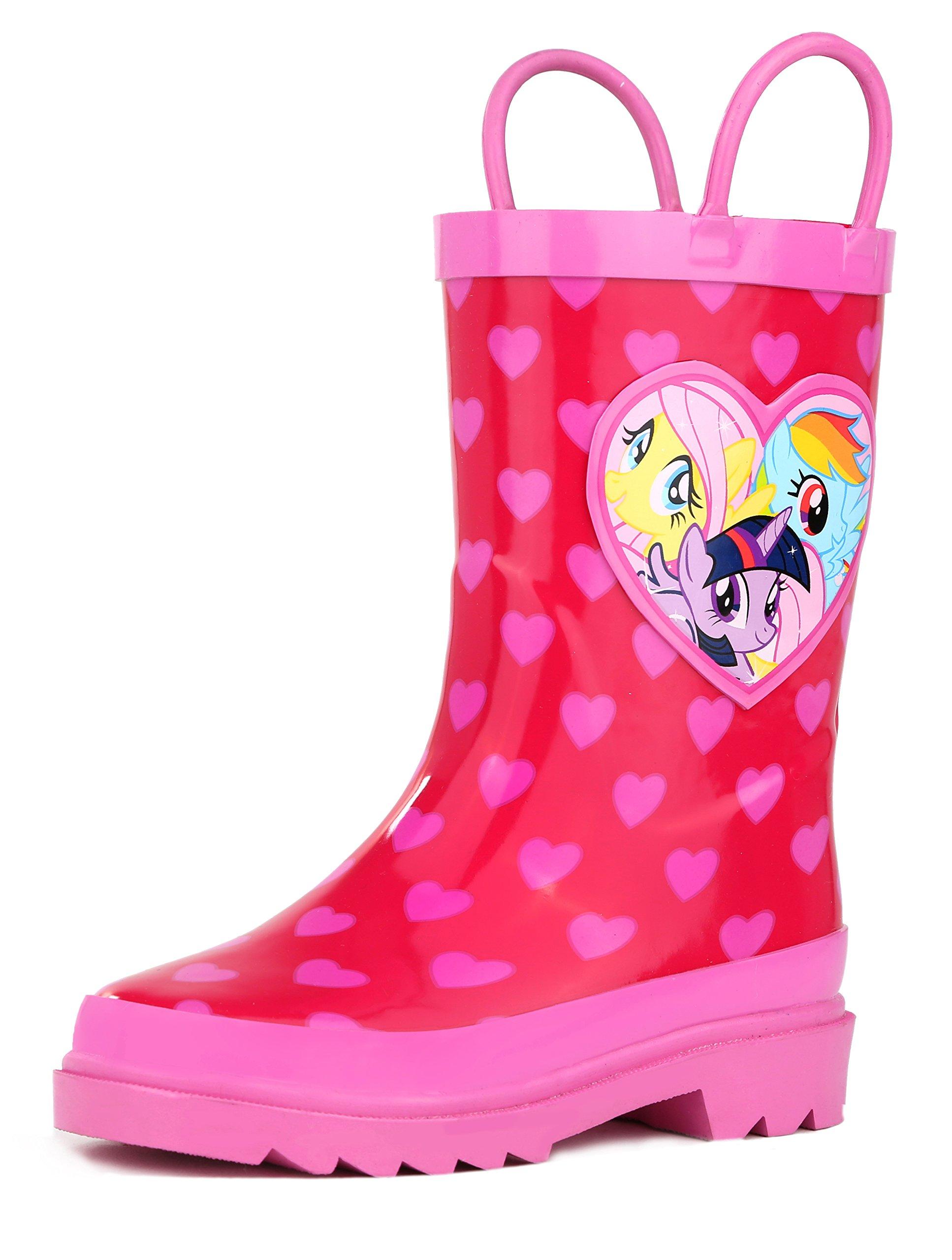 My Little Pony Rainbow Girl's Pink Rain Boots - Size 11 Little Kid
