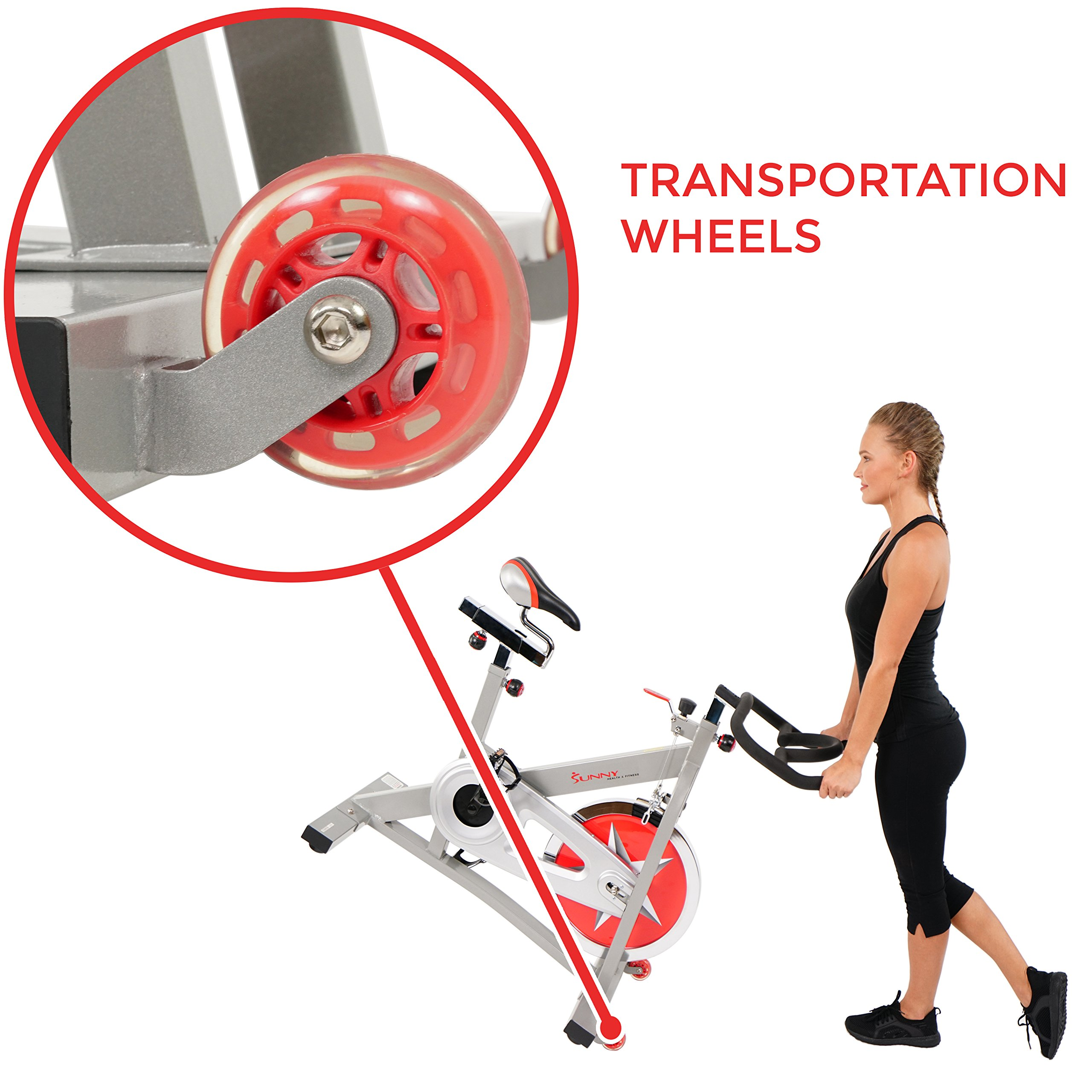 Sunny Health & Fitness Pro Indoor Cycling Bike by Sunny Health & Fitness (Image #7)