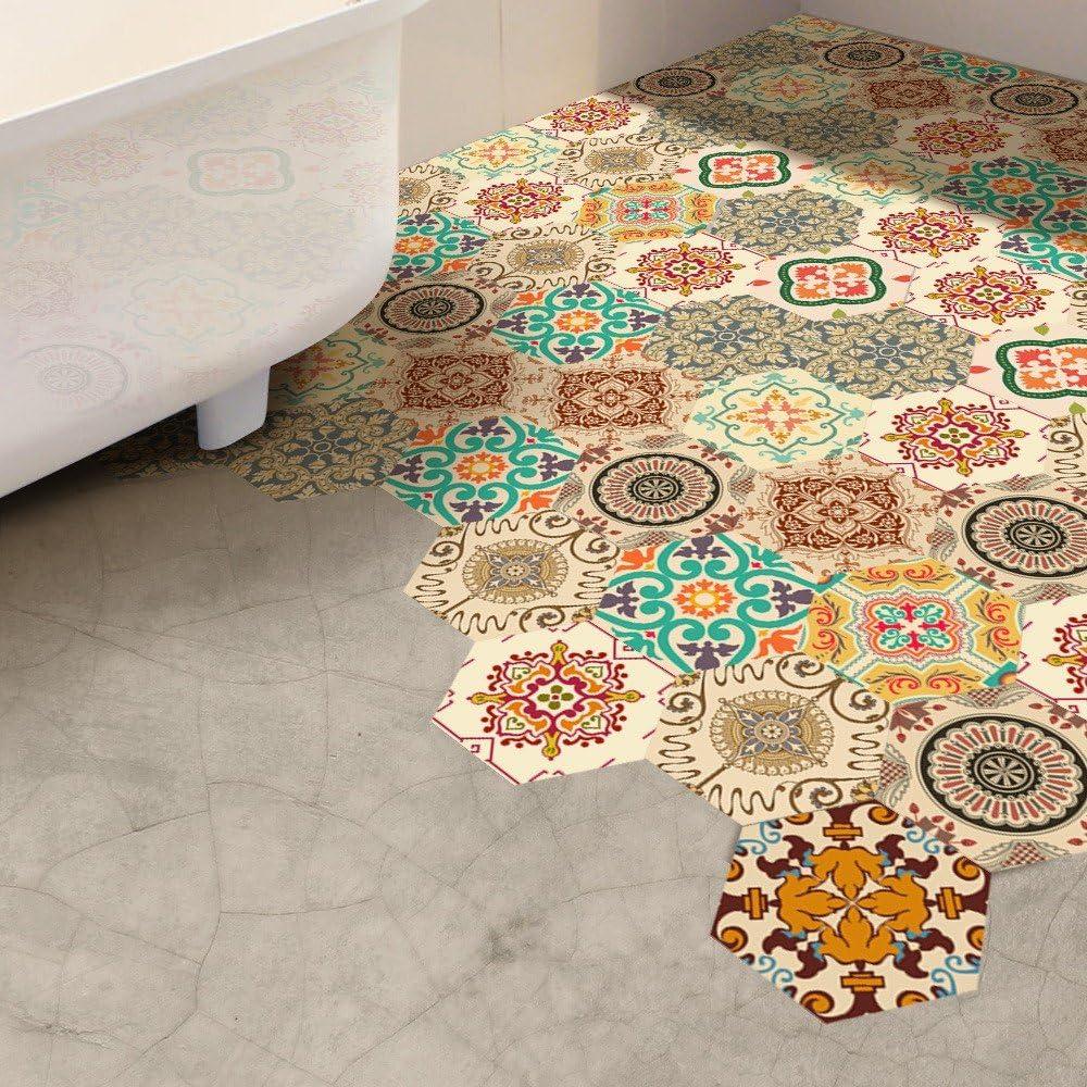 Self Adhesive Tile Art Floor Wall Decal Sticker DIY Kitchen Bathroom Decor Vinyl