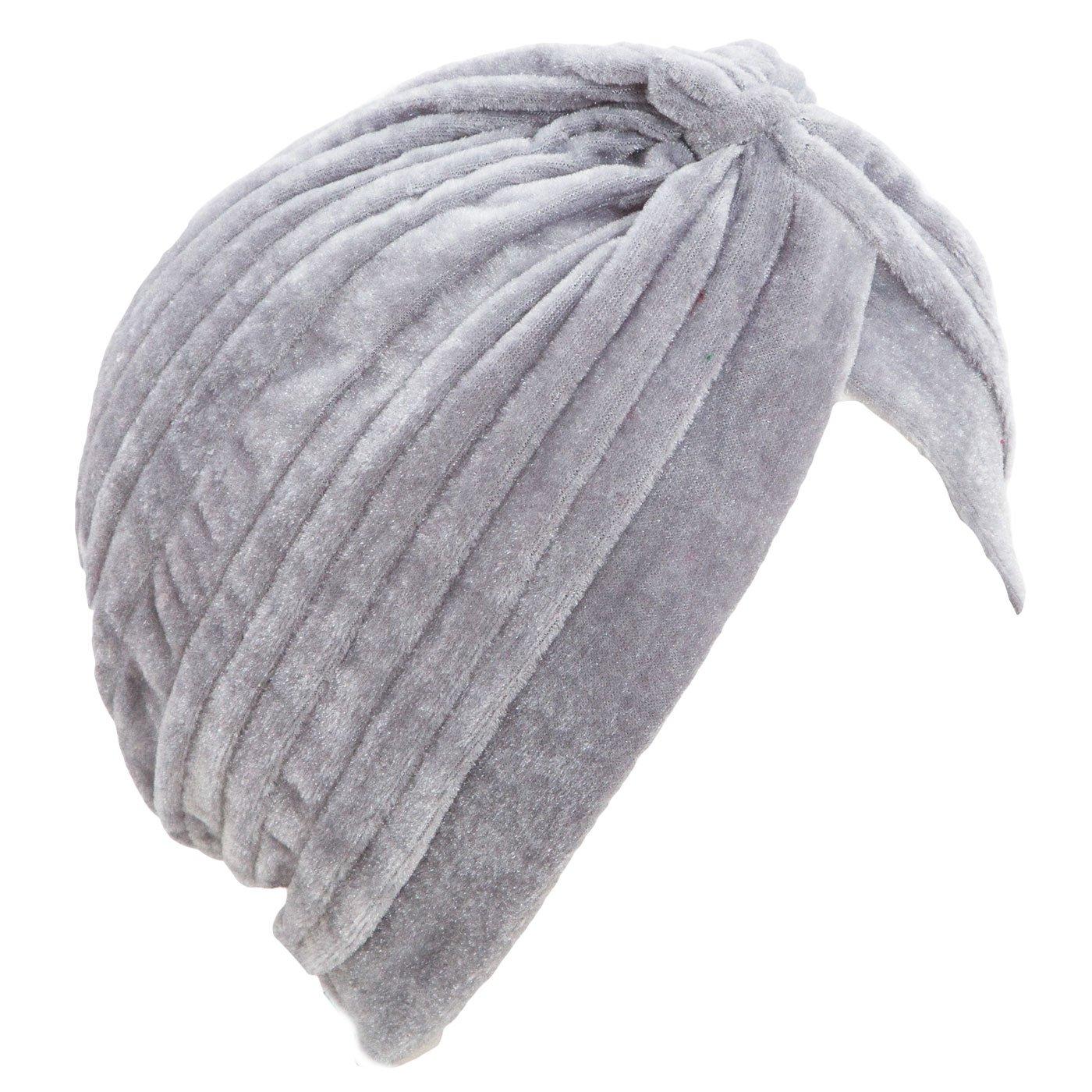 Turbante Donna Cuffia Retro Fascia ciniglia Cappello Pieghe Caldo Nuovo BE-1757 Toocool