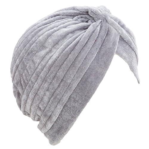 Toocool - Turbante donna cuffia retro fascia ciniglia cappello pieghe caldo nuovo BE-1757