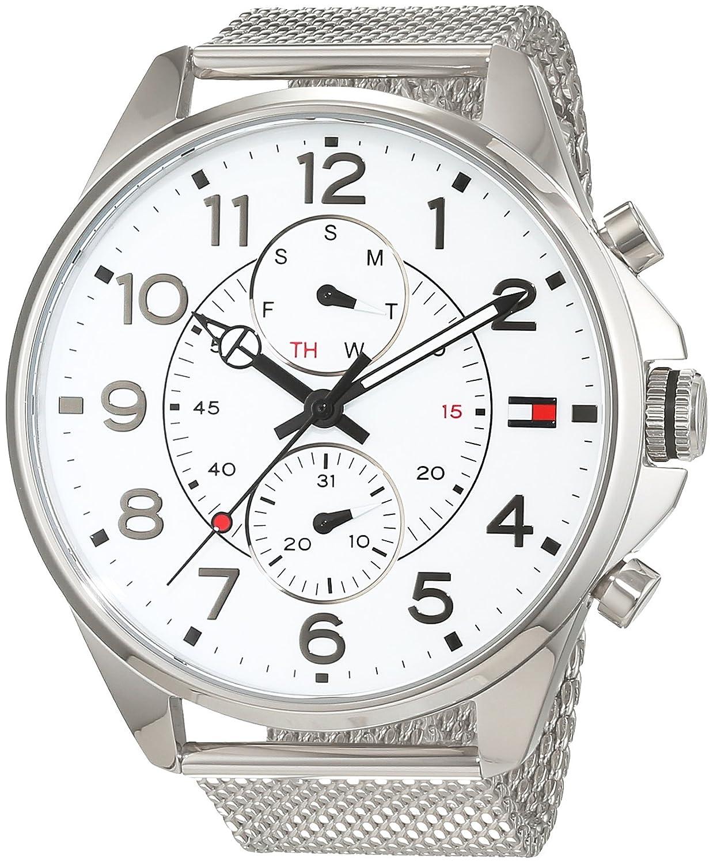 Reloj para hombre Tommy Hilfiger 1791277, mecanismo de cuarzo, diseño con varias esferas, correa de acero inoxidable.