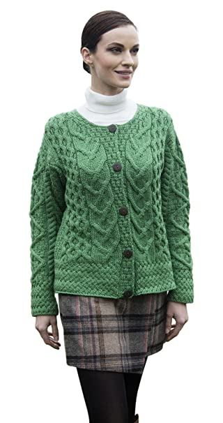 1930s Style Sweaters | Vintage Sweaters Ladies Irish Cable Knit Merino Wool Cardigan $89.95 AT vintagedancer.com