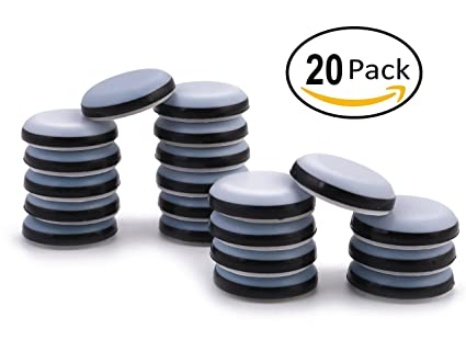 Gentil 3/4u0026quot; Adhesive Furniture Glides Sliders FURNIGEAR Heavy Duty PTFE ( Teflon)
