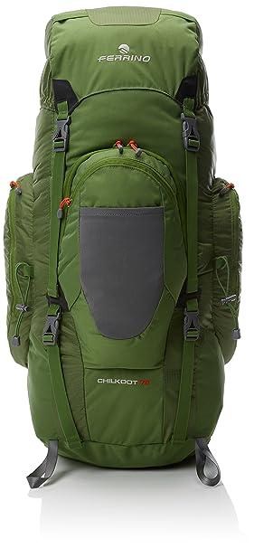 b48b0a5b09 Ferrino Chilkoot 75 Backpack, Green, L: Amazon.co.uk: Sports & Outdoors