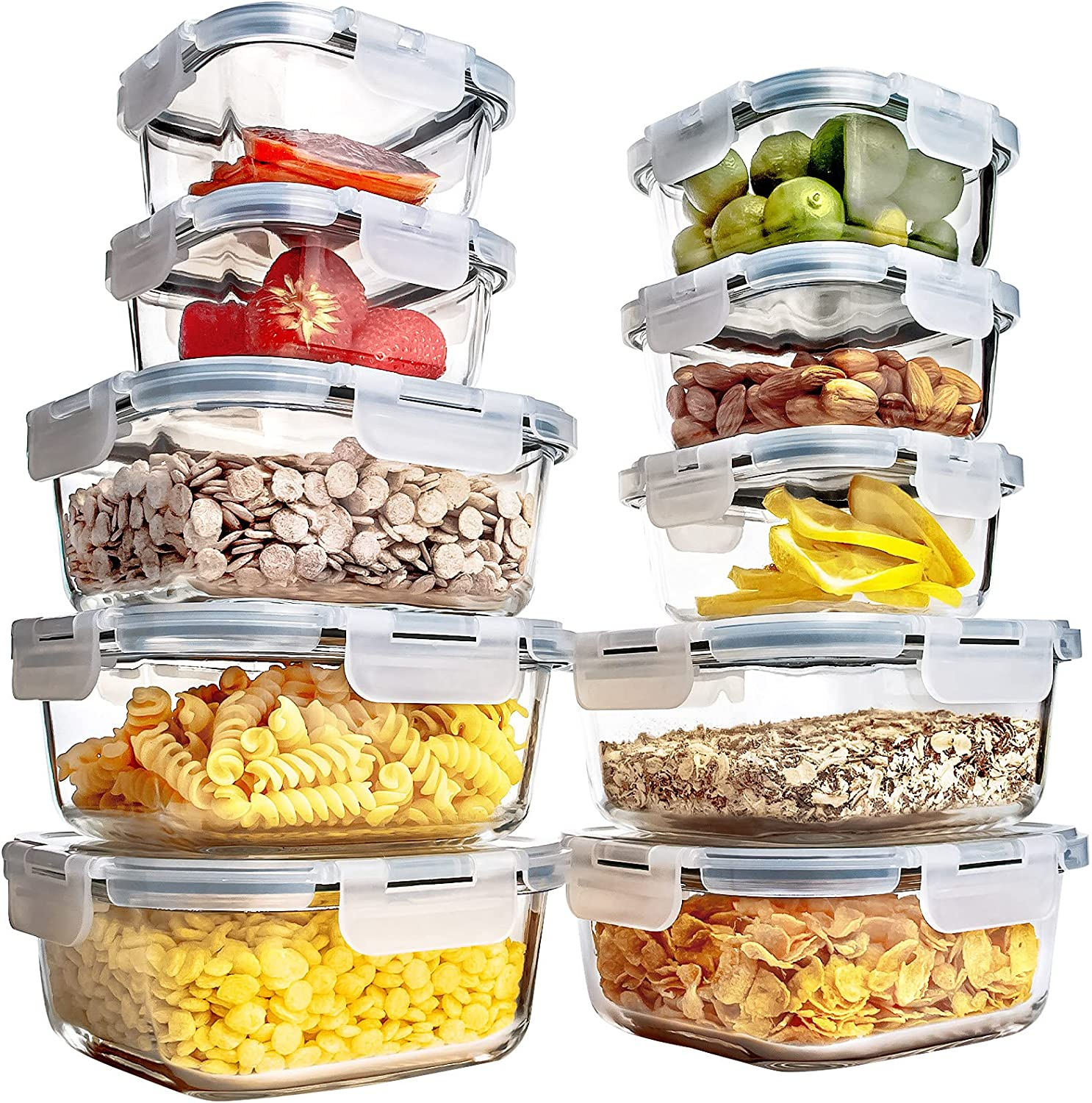 Excellence Glass Meal Prep Containers 10 Pack Airtight S Cheap sale Food Leak Proof
