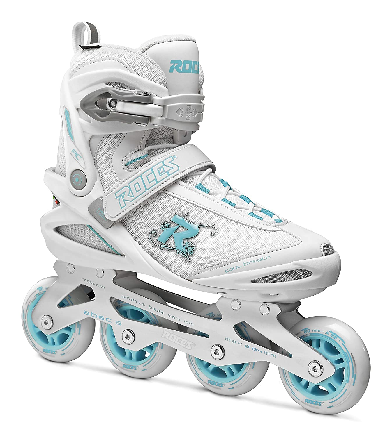White//Azure Roces USA Roces 400796 Womens Model Pic Art Inline Skate US 9W