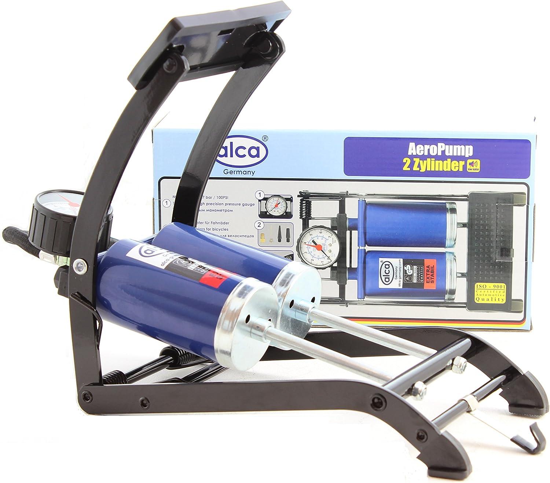 Premium AeroPump floor air pump 7 BAR 100 PSI car bike tyre inflator