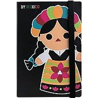 By Mexico Libreta Rayada modelo Muñeca María Negro 80 hojas