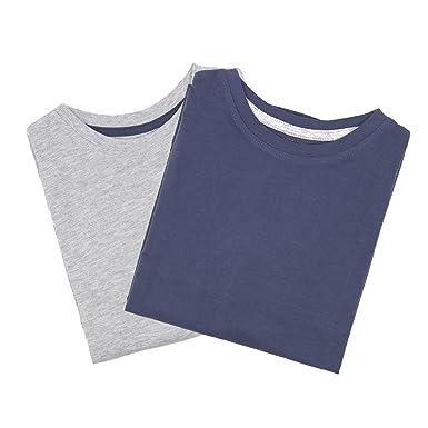Primark - Camiseta de Manga Larga para niños, Azul Oscuro, Gris, 5-6 años: Amazon.es: Ropa y accesorios