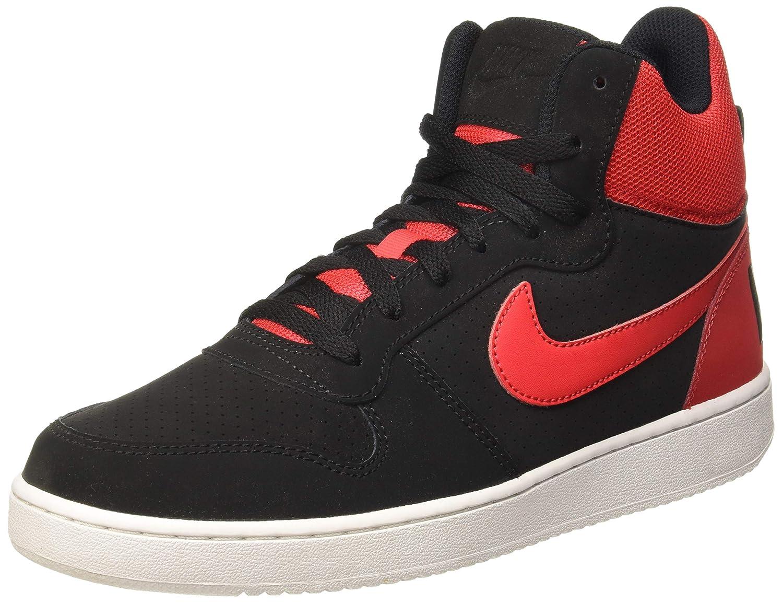 schwarz (schwarz   Action rot-Weiß) Nike Court BGoldugh Mid, Hausschuhe de Baloncesto para Hombre