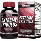 Pure Bulgarian Tribulus Terrestris, Increases Libido, Strength & Stamina, Promotes Natural Testosterone Production, 95% Saponin, 80% Protodioscin, Highest Potency on Amazon, 1300mg - 120 Capsules
