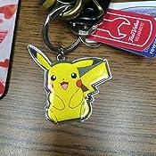 Amazon.com: Tomy Pokemon Pikachu metal Llavero Clave Cadena ...