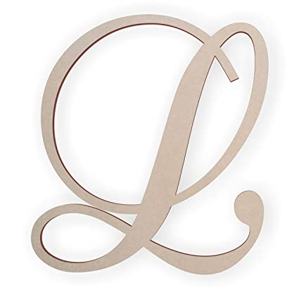 Amazon.com: Jess and Jessica Wooden Letter L, Wooden Monogram Wall