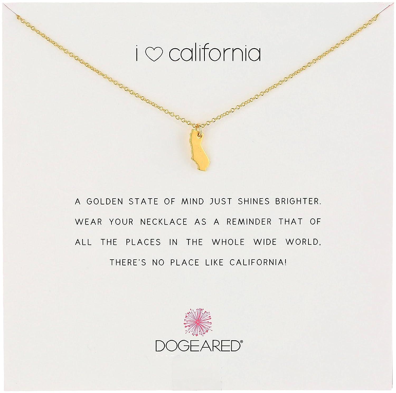 Amazon dogeared reminders i love california gold dipped amazon dogeared reminders i love california gold dipped california state charm necklace 162 extender jewelry aloadofball Choice Image
