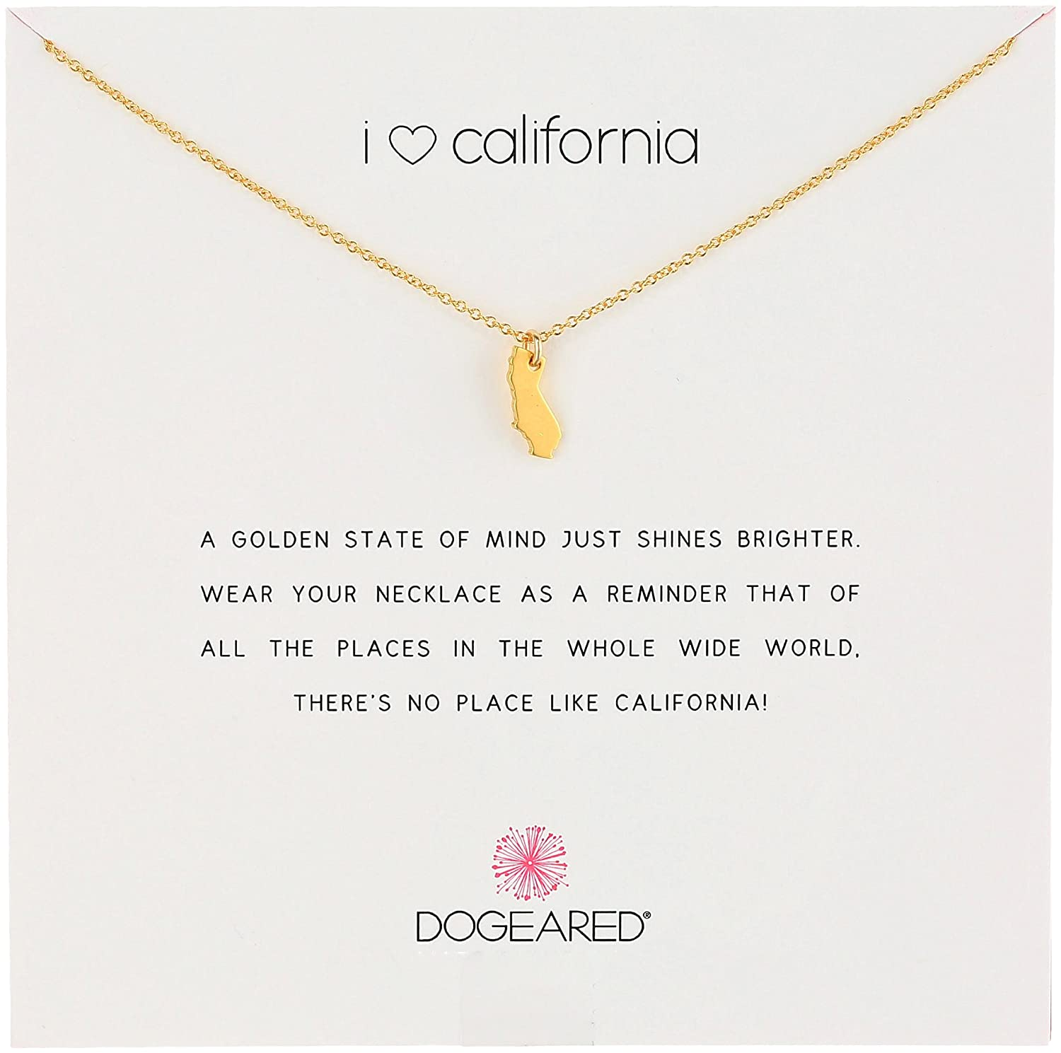 Amazon dogeared reminders i love california gold dipped amazon dogeared reminders i love california gold dipped california state charm necklace 162 extender jewelry aloadofball Image collections