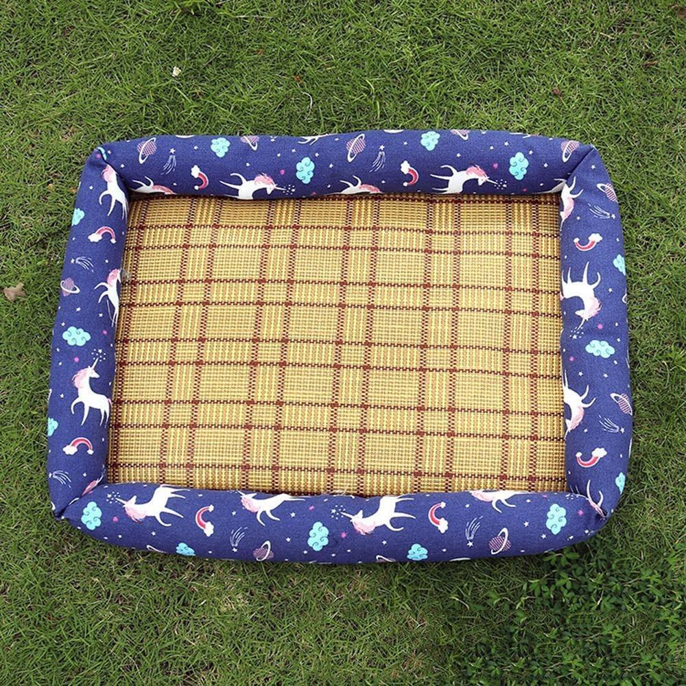 B 53406cm B 53406cm YunYilian Pet Bolster Dog Bed Comfort Anti-Moisture Pet mat Cloth mat Dog mat (color   B, Size   53  40  6cm)