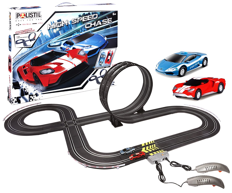 Bburago Maisto France Car Circuit - Polistil-High Speed Chase, 96034, Variable Bburago-Maisto