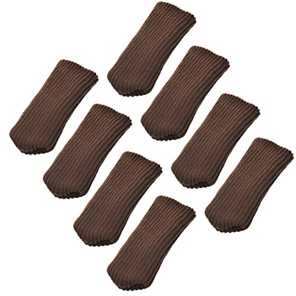 8pcs Muebles de elástica de lana para tejer calcetines/pata de la silla piso Protector