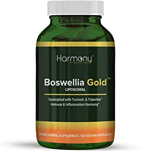 Harmony Nutraceuticals Boswellia Serrata Extract (70% Boswellic Acids) 120 Capsules - Non Synthetic