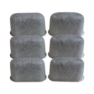 6 Filtres Cuisinart DCC-RWF charbon eau, s'adapte à tous Cuisinart Cafetières Avec système de filtration d'eau au charbon