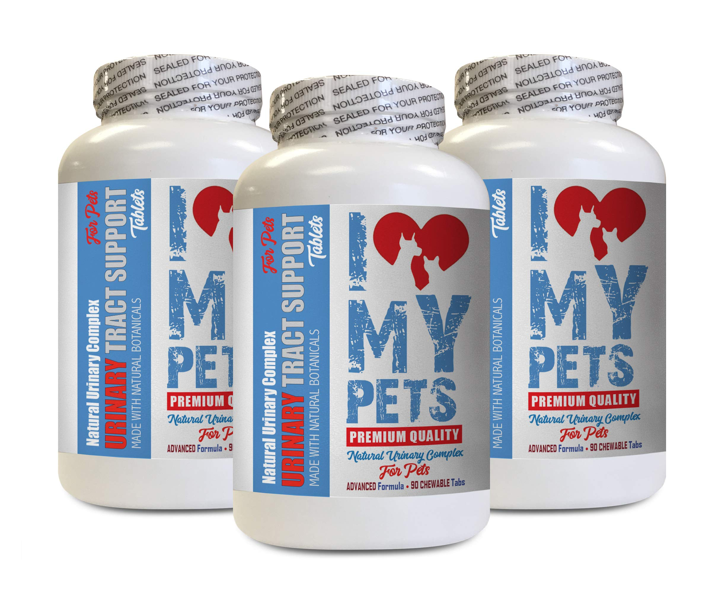 I LOVE MY PETS LLC Urinary Supplements for Cats - PET Urinary Tract Support - Dogs and Cats - UTI Relief Complex - Cranberry Comfort for Cats - 270 Treats (3 Bottles) by I LOVE MY PETS LLC