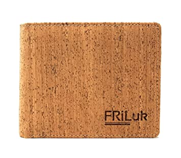 FRiLuk Cartera Portatarjetas Vegana Hecha de Corcho con Bloqueo RFID (Marrón Claro): Amazon.es: Equipaje