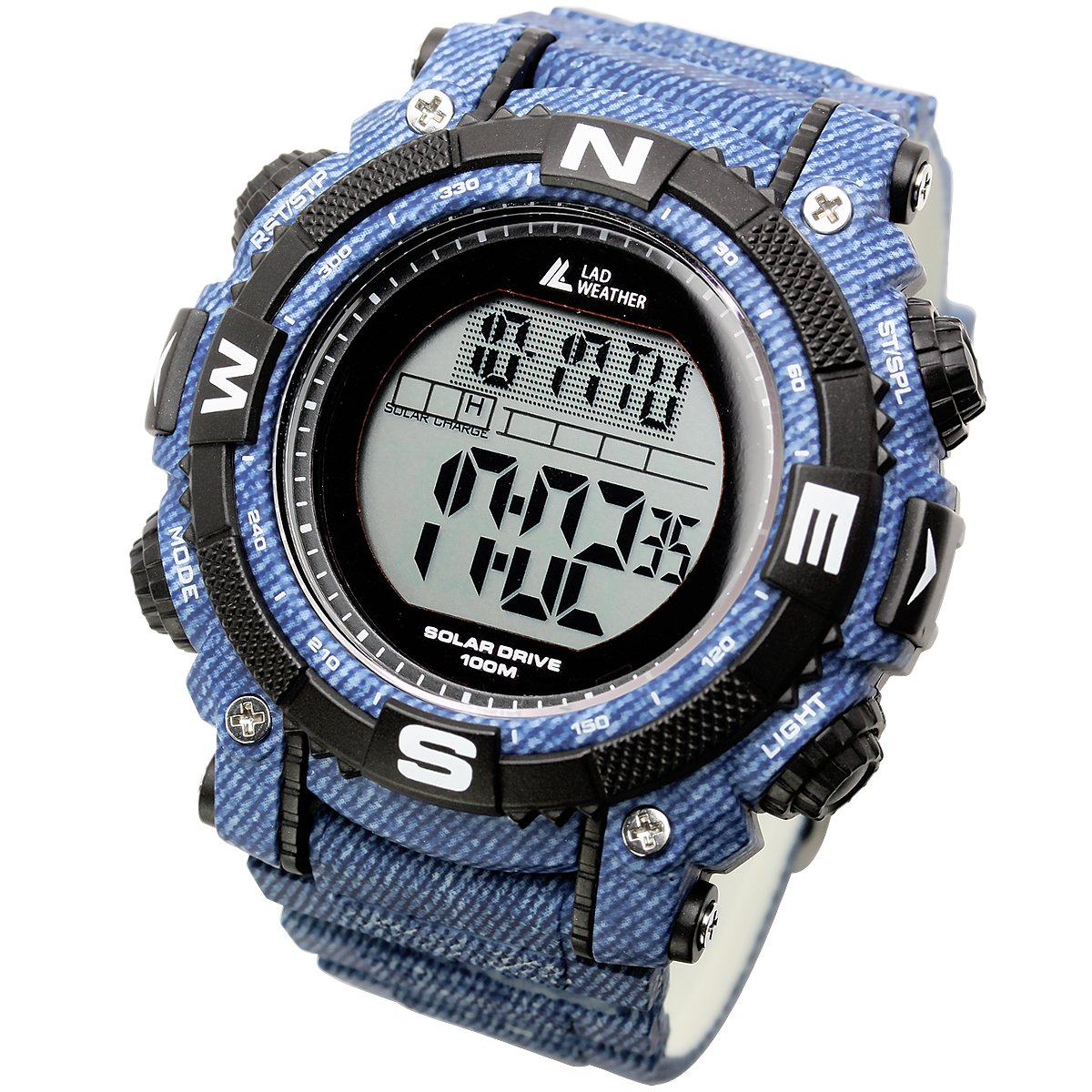 [LAD WEATHER] Powerful solar digital watch Sports Military Lap Split men's watch by LAD WEATHER