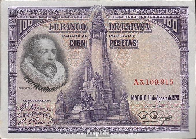 España Pick-No.: 76a 1928 100 Peseten (billetes para los coleccionistas): Amazon.es: Juguetes y juegos