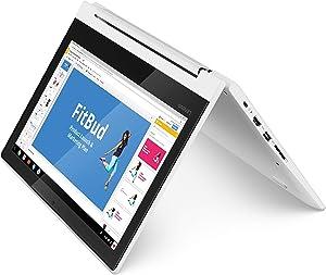 Lenovo Chromebook C330 2-in-1 Convertible Laptop, 11.6-Inch HD (1366 x 768) IPS Display, MediaTek MT8173C Processor, 4GB LPDDR3, 64 GB eMMC, Chrome OS, 81HY0000US, Blizzard White