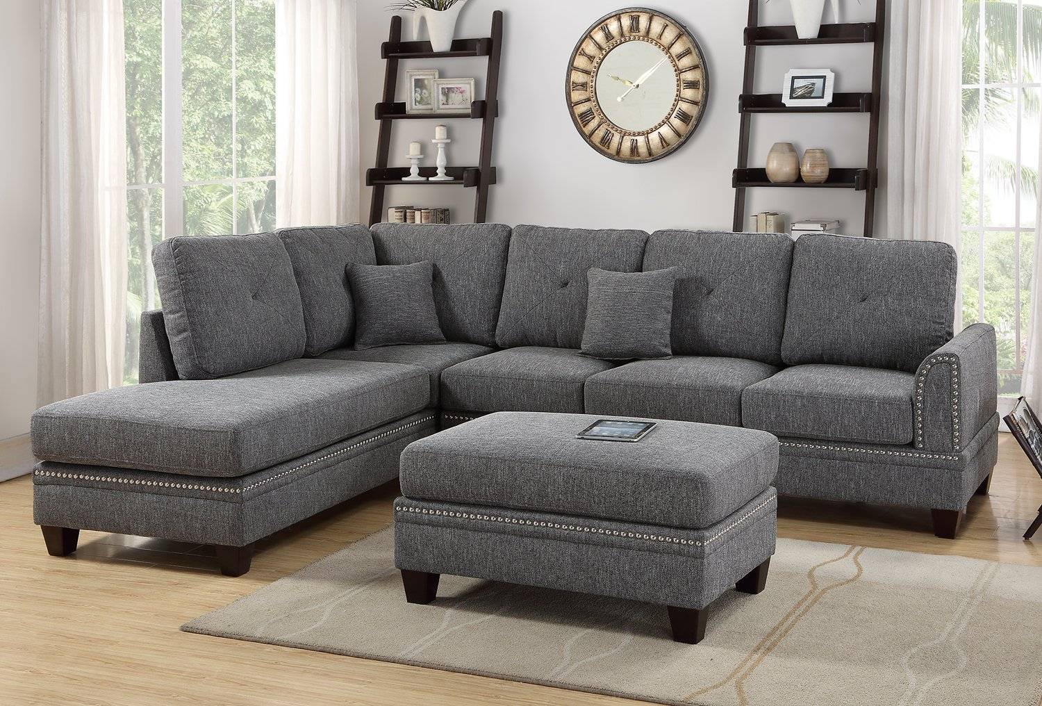 Poundex F6511 Bobkona Bandele Sectional Set