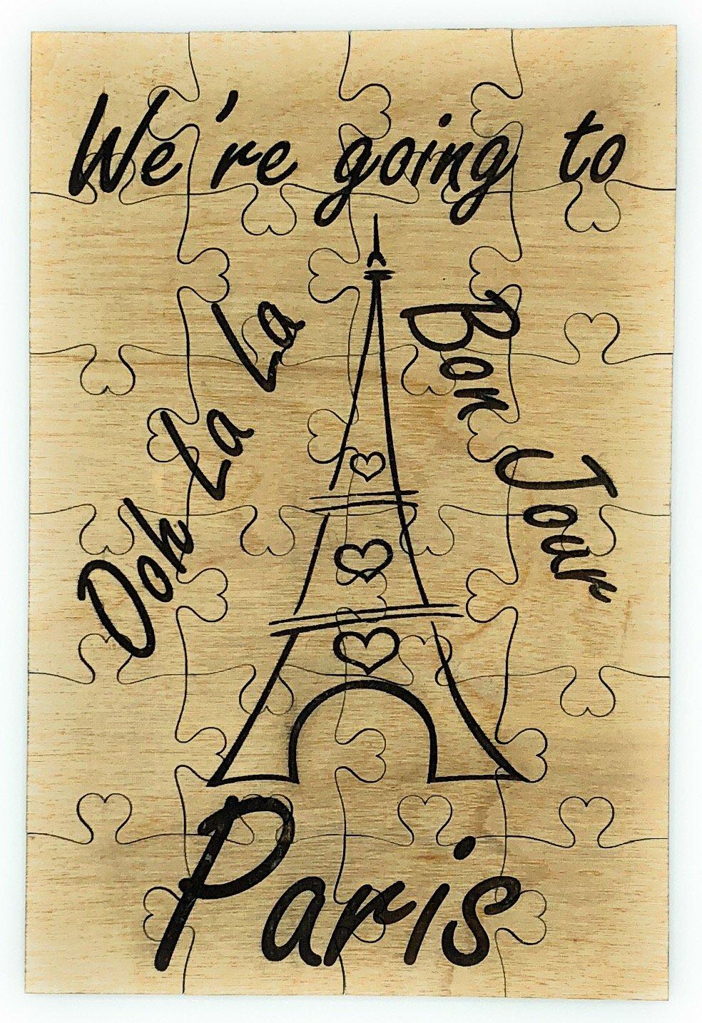 【超新作】 私たちはパリにパズル24ピース木製結婚ハネムーン記念旅行パズル発表フランスヨーロッパ B07F316NLH B07F316NLH, グレースシトラス:14cc878d --- 4x4.lt
