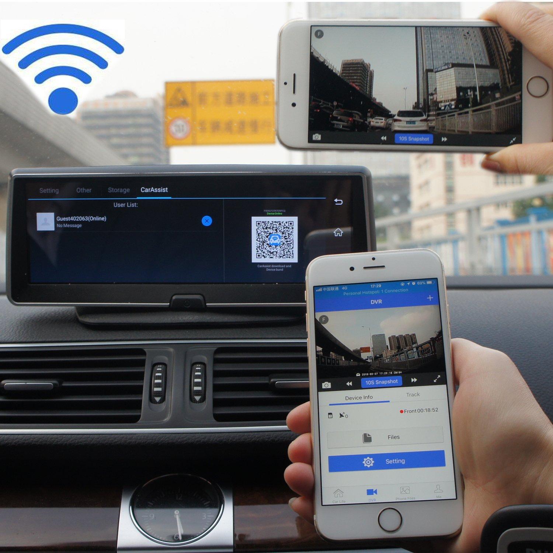 Gohawk Auto-Armaturenbrett-Kamera 1080p 3G WIFI Auto-Videoaufzeichnung f/ür LKW