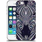 Head Case Designs Zebra Animaux Aztèques Serie 6 Étui Coque en Gel molle pour Apple iPhone 5 / 5s / SE