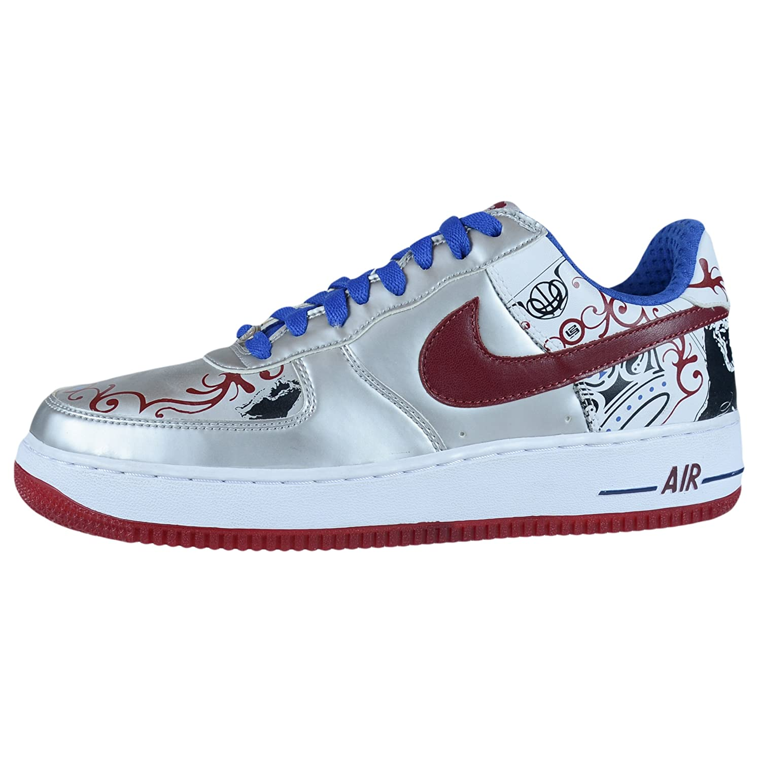 NIKE Air Force 1 Premium Lebron Collection Royale Silver 313985 061 Size 9:  Amazon.co.uk: Shoes & Bags