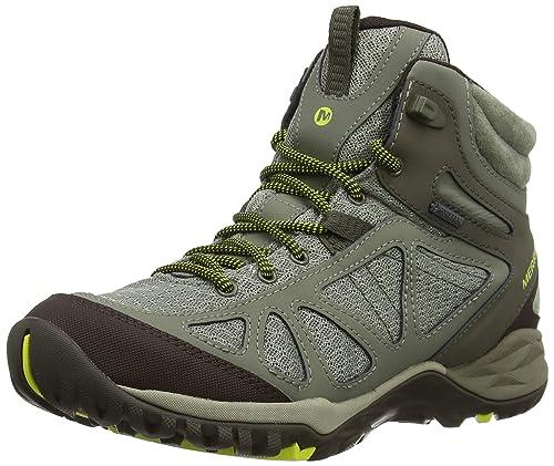 9ba0a7e2f3 Merrell Women's Siren Sport Q2 Mid Waterproof Hiking Boots, Dusty Olive, ...