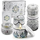 Scented Candles Gift Set, Natural Soy Wax, Stress Relief Gifts for Women, 6 Pack 5.65Oz Aromatherapy Candle, 150H Lasting Bur