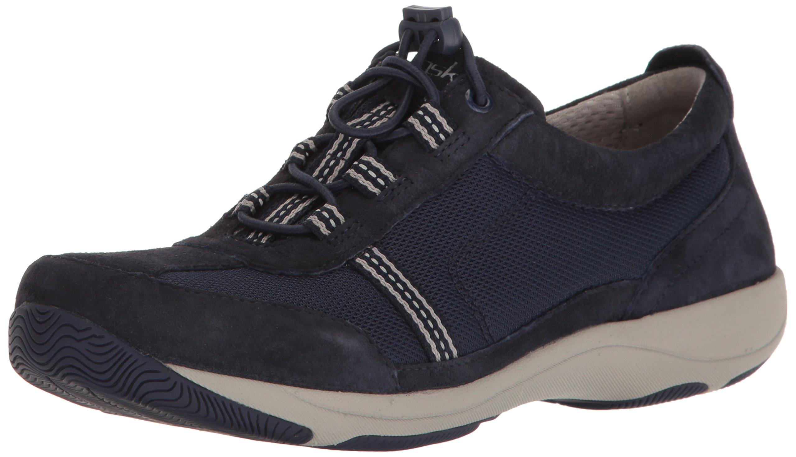 Dansko Women's Helen Fashion Sneaker, Navy Suede, 39 EU/8.5-9 M US