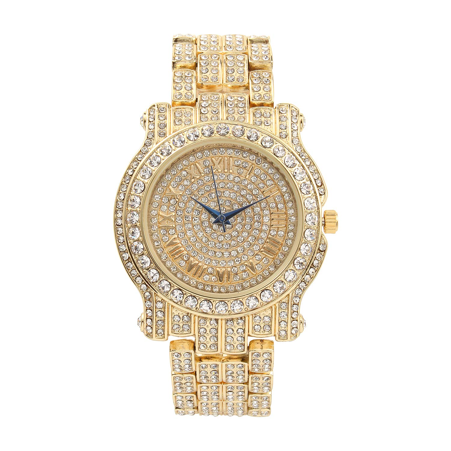 f2c6e189e88b6 The Ultimate Gold Iced Out Hip Hop Bling Bling Watch - L0504 Gold ...