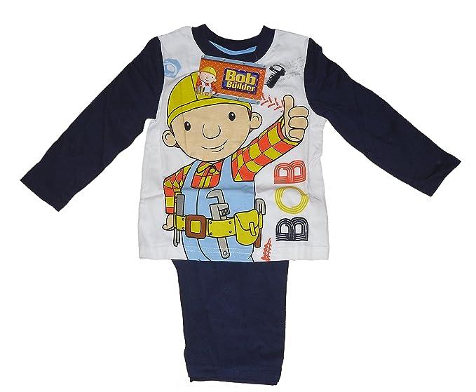 Boys pijama de Bob el constructor largo 1 - 6 años de edad Blanco blanco 1-2 Años: Amazon.es: Ropa y accesorios